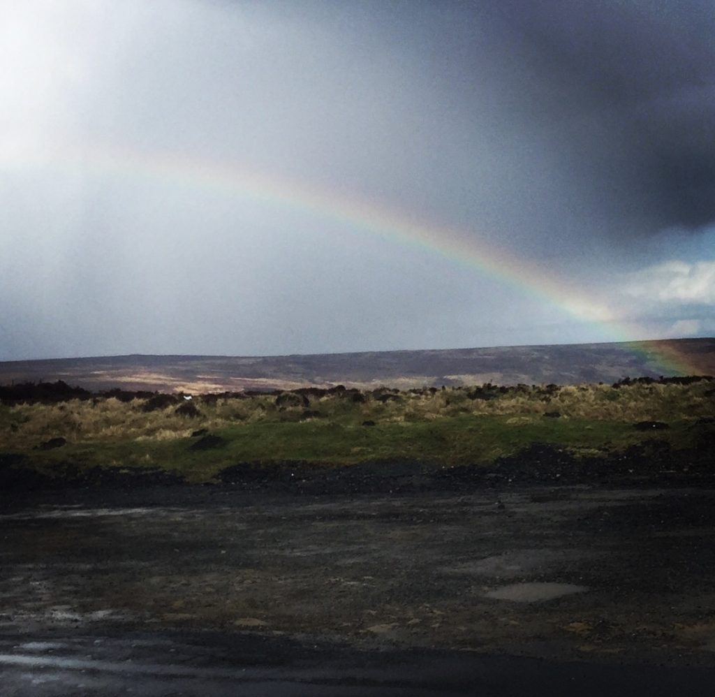Chasing rainbows - a rainbow over the Moors  theunravelling.net