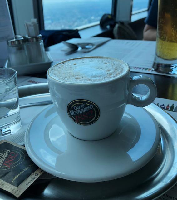 Coffee at Kamzik Tower