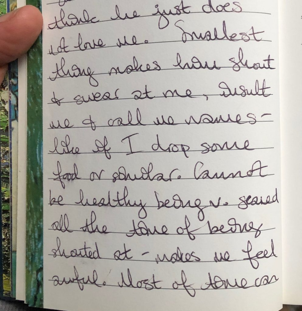 Close-up of a page of my 1999 handwritten diary  theunravelling.net